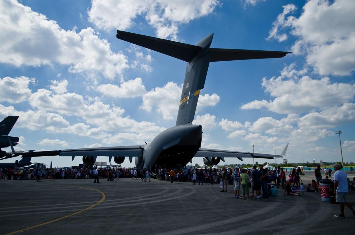 Авиашоу, Хоумстэд / Airshow, Homestead, FL, Boeing C-17 Globemaster III
