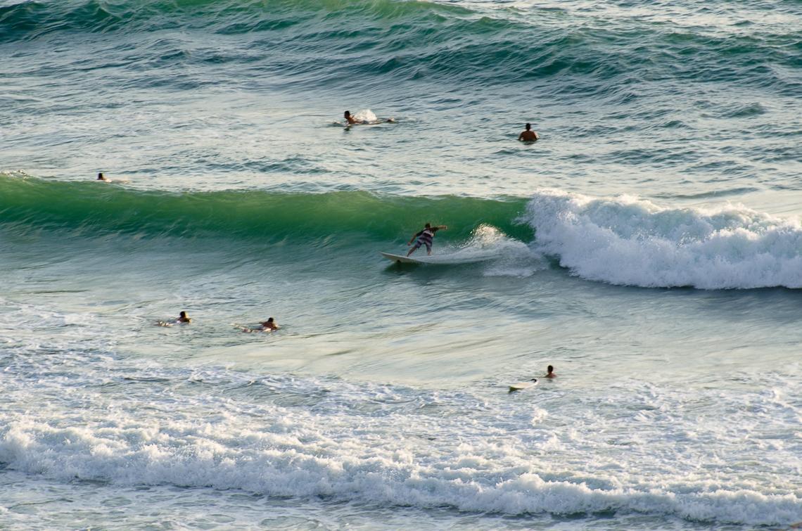 Israel, Netanya, Surfers