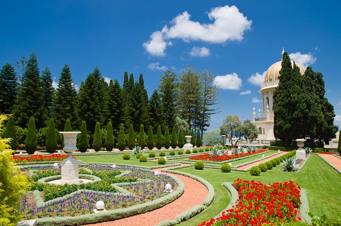 Israel, Haifa, Bahá'í gardens