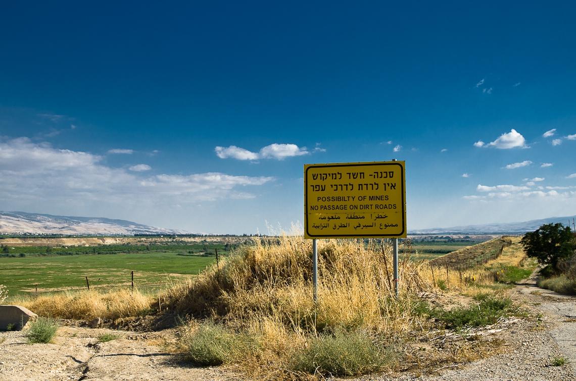 Israel, Jordan border, Mines