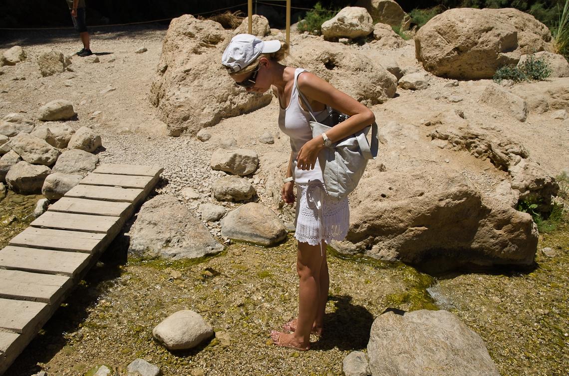 Israel, Dead Sea, Ein Gedi, Waterfall,  Мертвое море, Эйн-Геди