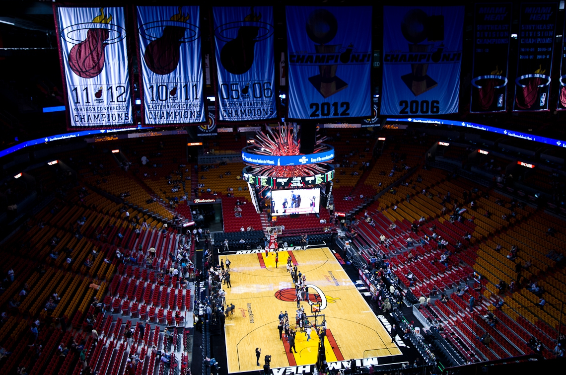 Miami Heat, Charlotte Bobcats, American Airlines Arena