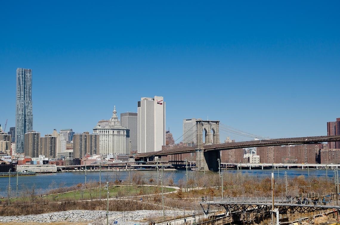New York, Brooklyn bridge, Manhattan view