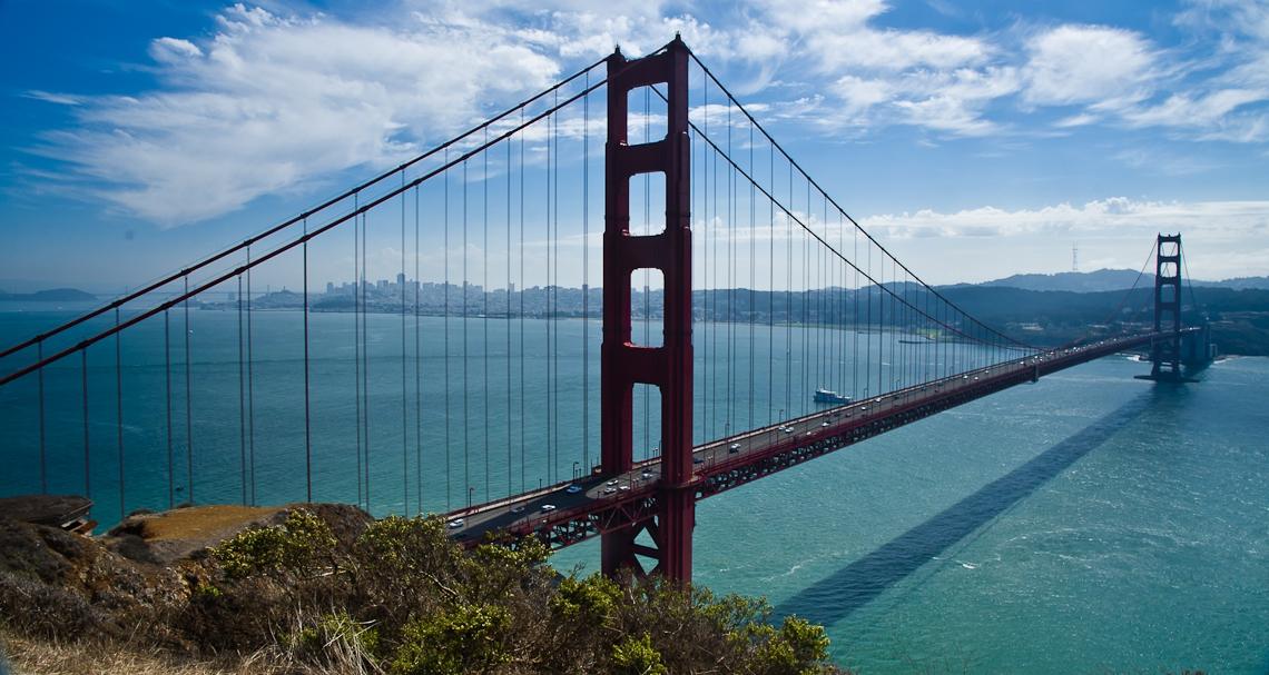 Сан Франциско, Мост Золотые ворота / San Francisco, Golden Gate bridge